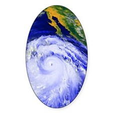 Coloured satellite image of Hurrica Decal