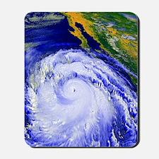 Coloured satellite image of Hurricane Li Mousepad