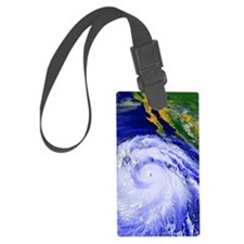 Coloured satellite image of Hurr Luggage Tag