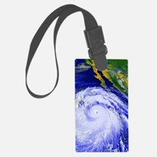 Coloured satellite image of Hurr Luggage Tag