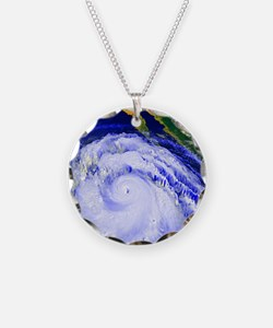 Coloured satellite image of  Necklace