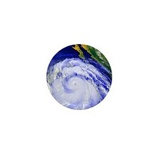 Coloured satellite image of Hurricane  Mini Button