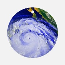 Coloured satellite image of Hurrica Round Ornament
