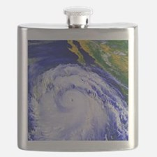 Coloured satellite image of Hurricane Linda Flask