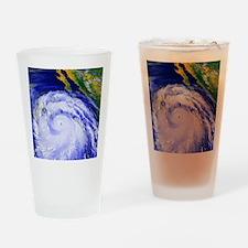 Coloured satellite image of Hurrica Drinking Glass