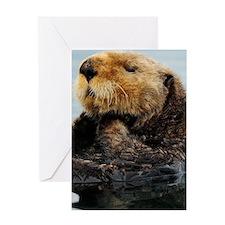 Alaskan Sea Otter Kindle Hard Case Greeting Card