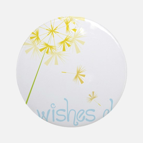 Wishes Round Ornament
