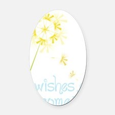 Wishes Oval Car Magnet