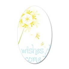 Wishes 35x21 Oval Wall Decal