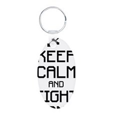 Keep calm and fight on 1c Keychains