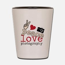 Peace Love Photography Shot Glass