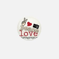 Peace Love Photography Mini Button
