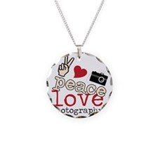 Peace Love Photography Necklace