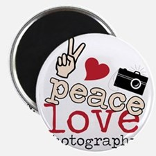 Peace Love Photography Magnet