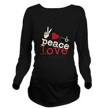 Peace Love Photograp Long Sleeve Maternity T-Shirt