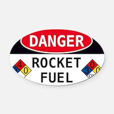 Rocket Fuel Oval Car Magnet