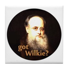 Wilkie Collins Tile Coaster