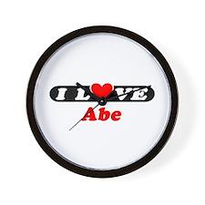 I Love Abe Wall Clock