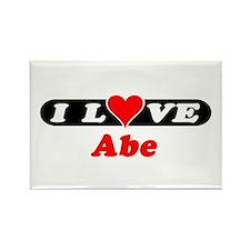 I Love Abe Rectangle Magnet