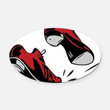 Tap Dancing Shoes Oval Car Magnet