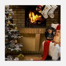 By the Fireplace Tile Coaster