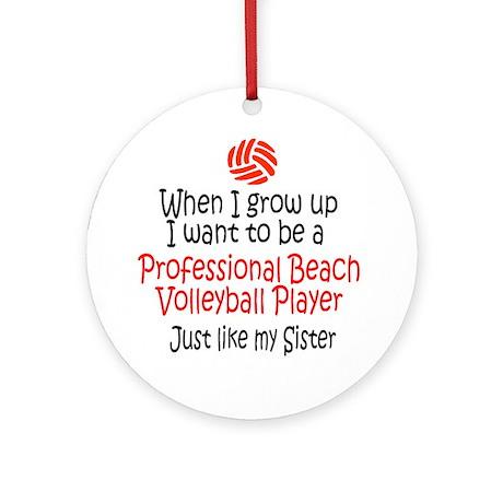 WIGU Pro Beach Volleyball Sister Ornament (Round)