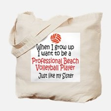 WIGU Pro Beach Volleyball Sister Tote Bag