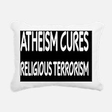atheismcuresbutton Rectangular Canvas Pillow