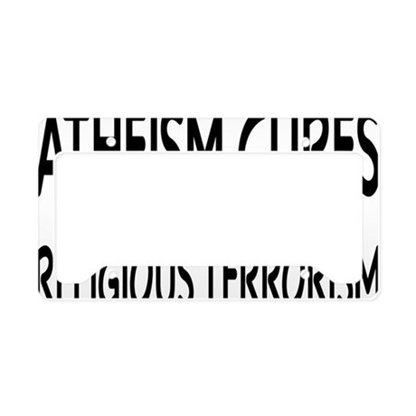 atheismcuresrectangle License Plate Holder