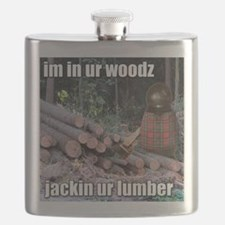 Lumber Jackin Flask