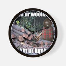 Lumber Jackin Wall Clock