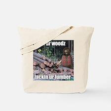 Lumber Jackin Tote Bag