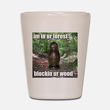 Wood Blockin Shot Glass