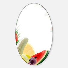 Assorted fresh fruit Sticker (Oval)