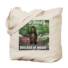 Wood Blockin Tote Bag