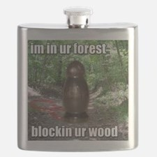 Wood Blockin Flask