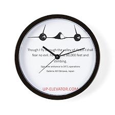 SR-71 Spy Plane Wall Clock