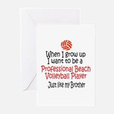 WIGU Pro Beach Volleyball Brother Greeting Cards (