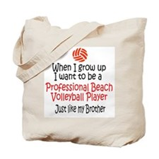 WIGU Pro Beach Volleyball Brother Tote Bag