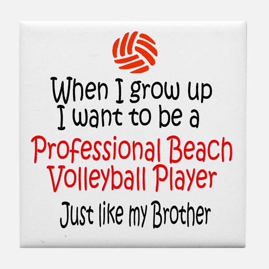 WIGU Pro Beach Volleyball Brother Tile Coaster