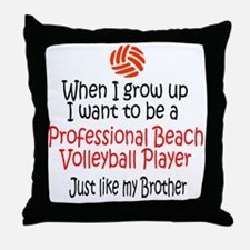 WIGU Pro Beach Volleyball Brother Throw Pillow
