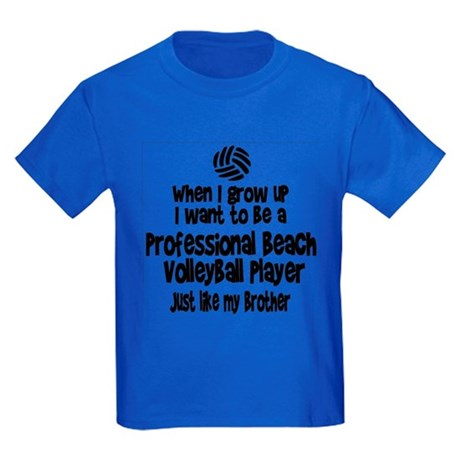 WIGU Pro Beach Volleyball Brother Kids Dark T-Shir