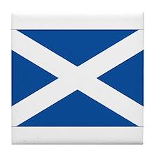 Scotish flag Tile Coaster