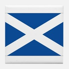 Scotish flag Tile Coaster
