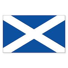Scotish flag Rectangle Decal