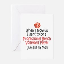 WIGU Pro Beach Volleyball Mom Greeting Cards (Pack