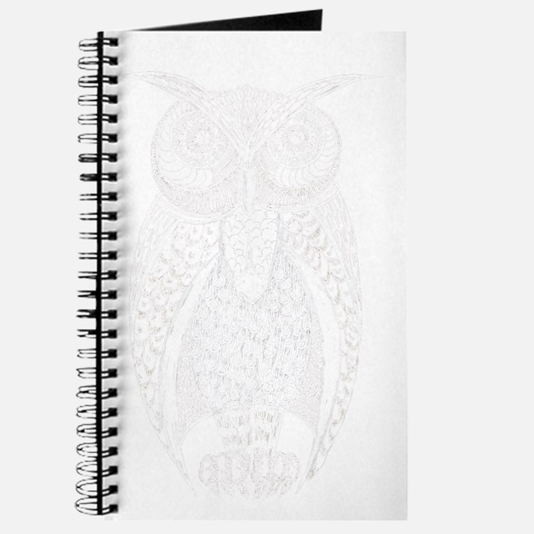 Hoot Owl in White Journal
