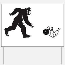Bigfoot Strikes! Yard Sign