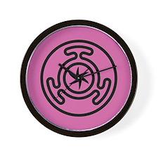 Hecate's Wheel Wall Clock