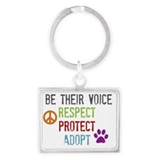 Respect Protect Adopt Landscape Keychain